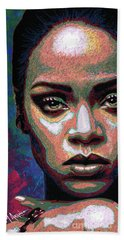 Rihanna Beach Towel by Maria Arango