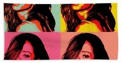 Rihanna Pop Art Beach Towel