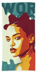 Rihanna Beach Towel