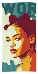 Rihanna Beach Towel by Greatom London