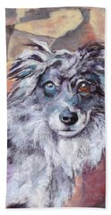 Beach Sheet featuring the painting Riley by Julie Maas