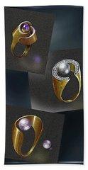 Ring  Designs Beach Sheet by Hartmut Jager