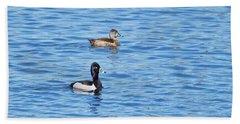 Ring-neck Ducks Beach Towel by Michael Peychich