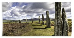 Ring Of Brodgar Beach Sheet by Fran Gallogly