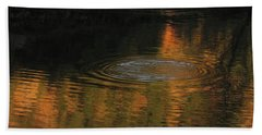 Rings And Reflections Beach Towel
