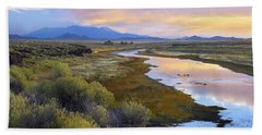 Rio Grande And The Sangre De Cristo Beach Towel