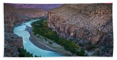 Rio Grande At Dusk Beach Towel