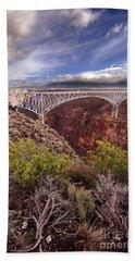 Rio Grande Gorge Bridge Beach Sheet by Jill Battaglia