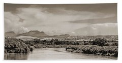 Rio Grande In Sepia Beach Towel