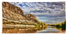 Rio Grande River Oil Painting Beach Towel