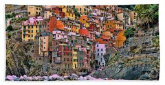 Beach Sheet featuring the photograph Riomaggiore by Allen Beatty