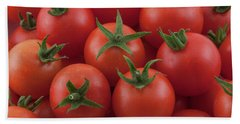 Beach Sheet featuring the photograph Ripe Garden Cherry Tomatoes by James BO Insogna