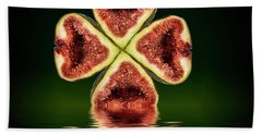 Beach Towel featuring the photograph Ripe Juicy Figs Fruit by David French