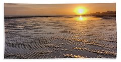 Rippled Sunset Beach Towel