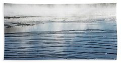 Ripples And Steam In Midway Geyser Basin Beach Sheet