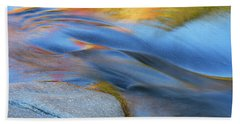 Ripples Flow Swift River Nh Beach Towel by Michael Hubley