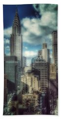 Beach Towel featuring the photograph Rise Above - Chrysler Building New York by Miriam Danar
