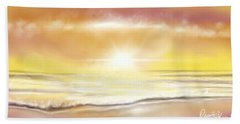 Beach Towel featuring the painting Rise And Shine by Dawn Harrell