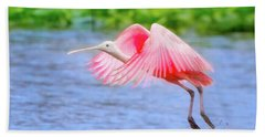 Rise Of The Spoonbill Beach Towel