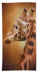 Rising Above - Giraffe Art Beach Towel by Jordan Blackstone