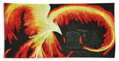 Rising From The Ashes Beach Towel