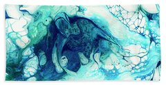 Beach Sheet featuring the painting Rising From The Depths by Darice Machel McGuire
