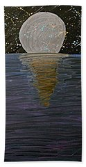 Beach Towel featuring the drawing Rising Moon by Bee-Bee Deigner
