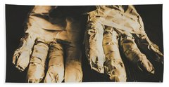 Rising Mummy Hands In Bandage Beach Towel