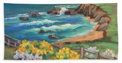 Beach Towel featuring the painting Ritz Carlton At Half Moon Bay by Diane McClary