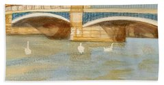 River At Royal Windsor Beach Sheet by Joanne Perkins