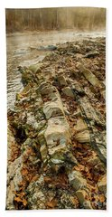 Beach Sheet featuring the photograph River Bank by Iris Greenwell