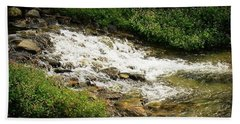 River Current #river #water Beach Towel