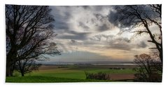 Beach Towel featuring the photograph River Forth View From Clackmannan Tower by Jeremy Lavender Photography