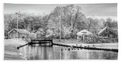 River In The Snow Beach Towel