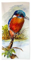 River Kingfisher Beach Towel