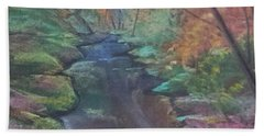 River In The Fall Beach Towel