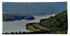 River Navigation Beach Towel