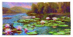 The Wonder Of Water Lilies Beach Towel