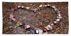 River Of Love Beach Sheet by Natalie Ortiz
