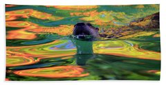 River Otter And Autumn Color Beach Sheet