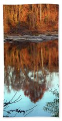 River Reflection Beach Sheet by Skip Willits