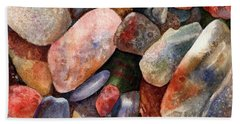 River Rocks Beach Sheet by Anne Gifford