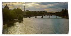 River Seine At Dusk Beach Towel