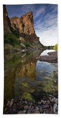 River Serenity Beach Sheet by Sue Cullumber