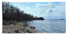 Delaware River Shoreline Beach Towel