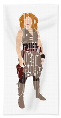 Beach Towel featuring the digital art River Song by Jean Haynes