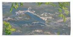 Beach Sheet featuring the painting River Spring by Karen Ilari