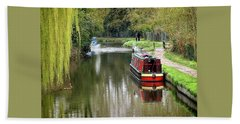 Beach Sheet featuring the photograph River Stort In April by Gill Billington