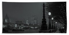 River Thames Embankment, London 2 Beach Towel