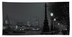 River Thames Embankment, London 2 Beach Towel